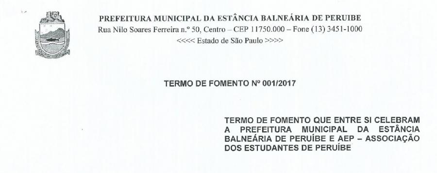 Convênio com a Prefeitura - Acompanhamento